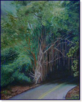 Old Pali Road by Nancy Nadzo